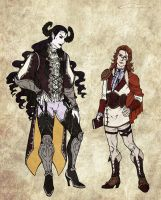 Faust + Mephistopheles Character Reference by Meiseki