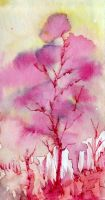 Melting Pink Tree by MarcHorn