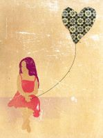 Girl and Heart by melemel