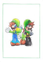 Green Guys by PaperLillie