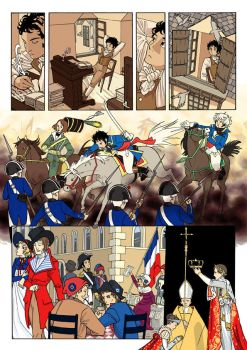 Karl XIV Johan comic by Aeonna