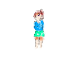I tried drawing left handed again by SkyDjGurl98