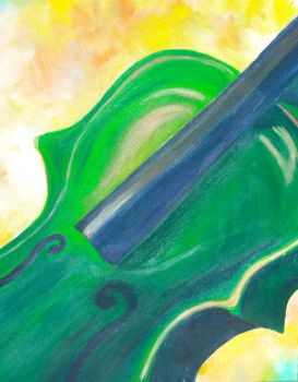 Green Violin by ellbeetree