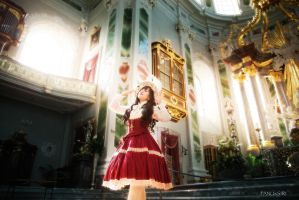 Elodie Doll in the Church I by FANUxSIRI