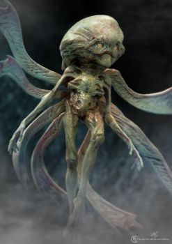 Un-used alien design for Falling Skies season 2 by Baizilla