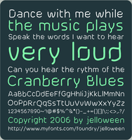 Font: CRANBERRY BLUES - free by jelloween