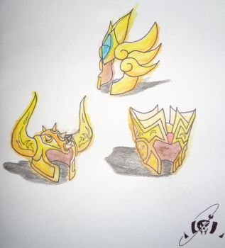 Saint Seiya Soul of Gold Helmets by Socren