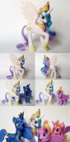 Princess Celestia G4 Custom Pony by Oak23