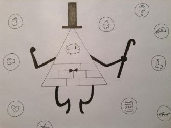 InkTober2015 #28 Bill Cipher by Kitsune-of-Awesome