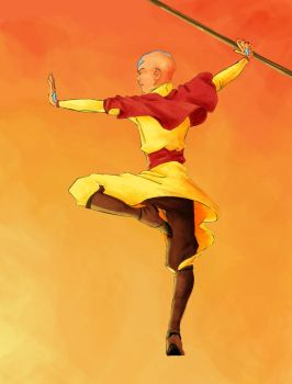 Aang Colored by Fabalvala