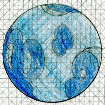 Pokemon Monster Dimension - Water Crystalball by MJW1915