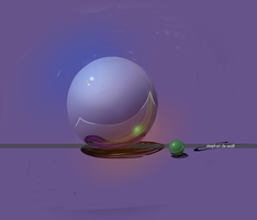 Purple Sphere by w0lfb0i