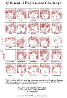 the 25 expression challenge by VampiHunter