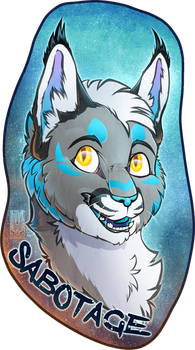 Personal - Sabotage Toony Badge by TwilightSaint