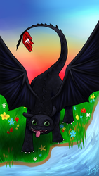 Toothless is a Derp by blizzardfoot