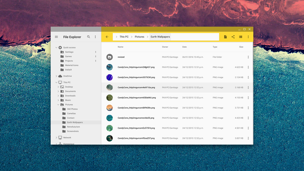 Material Design Windows File Explorer mockup by SantiagoLP98