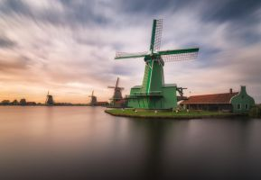 Green windmill by TomazKlemensak