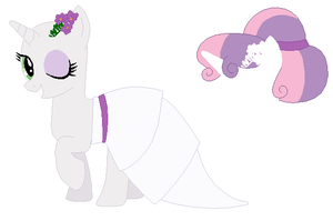 Wedding Sweetie Belle Base by SelenaEde