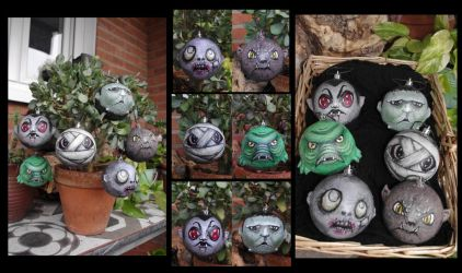 Horror Christmas decoration by Lauramei