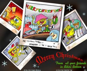 Spongebob At The X-Mas Party by anniemae04
