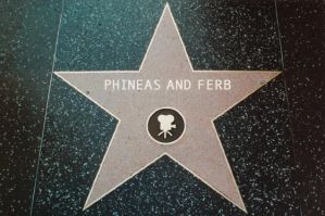 Phineas and Ferb Walk of Fame by cartoonfan22