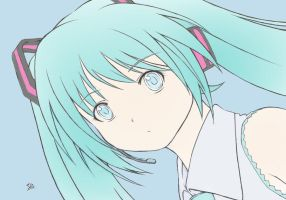 Miku Colored by GDMonster