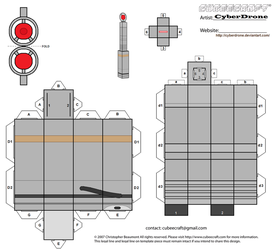 Cubee - The 8th Doctor's Sonic Screwdriver by CyberDrone
