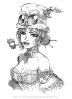 STEAMPUNK LADY by Karafactory