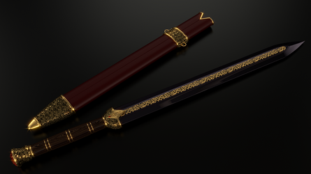 Imperial sword (Ebony version) by Etrelley