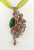 Green agate pendant by ukapala