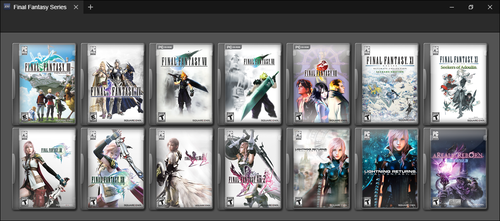 Final Fantasy PC Series by GameBoxIcons