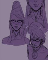 Bayonetta sketches by Chopstuff