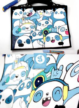 Music Panda Bag by Bobsmade