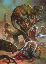 Dinosaurs Attacks by AlexHorley