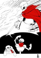 Inktober Day 4 : The GREAT Papyrus! by GhostLiliane