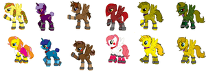 Fnaf ponies by IloveFNAFandsonic