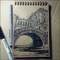 Sketchbook - Hermitage Bridge by Candra