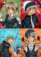 Soul Eater ACEO-Set by nayght-tsuki
