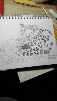 Mother's Day Leopard WIP by DraigonSwords