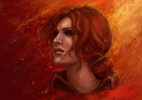 Triss (Print Available) by BlackAssassiN999