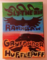 Harry Potter Houses 9x12 by wolf-girl87