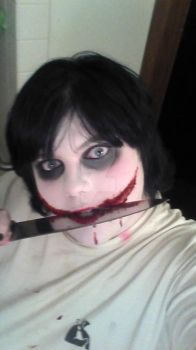 Jeff The Killer Makeup: by GoreyInsanity