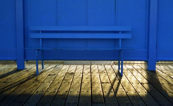Blue Bench by danhortonszar