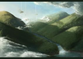 Landscape 01 - Mountains by SweetLhuna