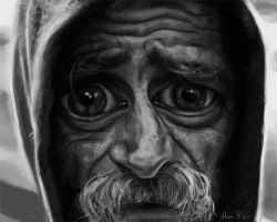 Homeless man by AdamBurleigh