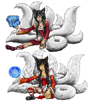 Ahri Comparison by HarlandGirl