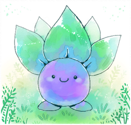 Pokemon #043 Oddish by Louivi