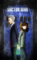 The 12th Doctor and Clara by Bella-Anima