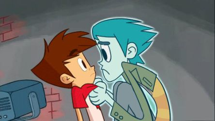 Ectofeature gif kiss by X-Auriel-X