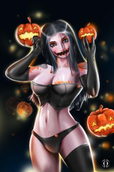 Halloween Girl by AngeloQuintero